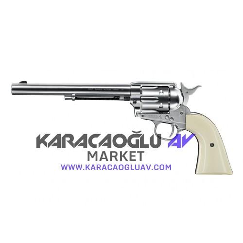 Colt SAA .45 7,5 '' 4,5 mm Nikel Havalı Tabanca